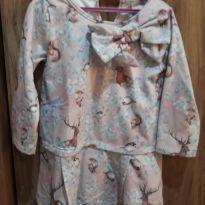 Vestido Moleton Floral - 3 anos - Açucena