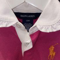 Vestido polo manga longa - 18 meses - Ralph Lauren