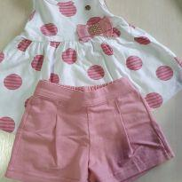 Conjunto Milon Shorts e Blusa - 2 anos - Milon