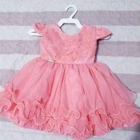 Vestido provençal - 3 a 6 meses - Menina Bonita