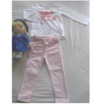 Calça e blusa manga longa - 24 a 36 meses - Zara Baby