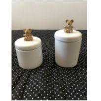 Potes de ceramica ursinhos -  - Não informada