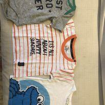 Kit camisetas - 3 a 6 meses - Baby Gap e H&M