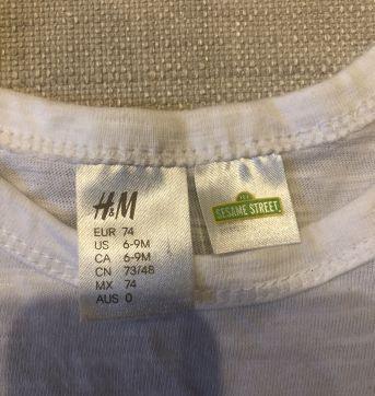 Kit camisetas - 3 a 6 meses - Baby Gap e H&M