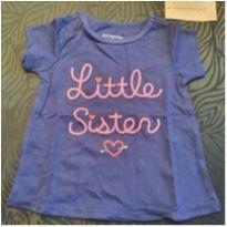Camiseta Little Sister - 3 a 6 meses - First Impressions