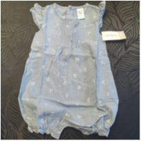 Romper Jeans - 1 ano - Carter`s
