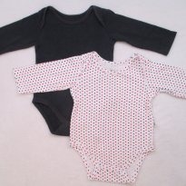 2 bodies marinho / branco bolinhas - 6 a 9 meses - Teddy Boom