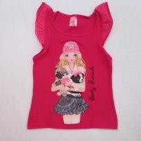 Blusa PINK menina - 5 anos - Não informada