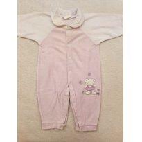 Macacão PLUSH branco / lilás - 6 meses - yoyo Baby
