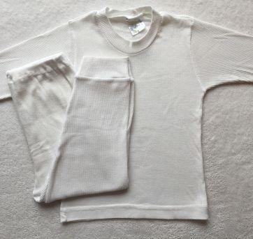 Pijama canelado BRANCO 02 - 3 anos - Dekinha