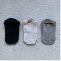 Kit 3 meias sapatilhas - 4 anos - Não informada
