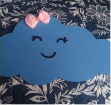 Quadro Nuvem MDF - Sem faixa etaria - Não informada