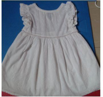 Vestido Branco todo em Lese - 3 anos - Não informada