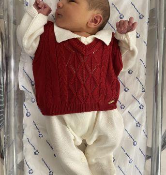Saída Maternidade Vermelha - Recém Nascido - Lilibee