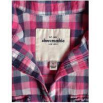 camisa abercrombie xadrez feliz - 12 anos - Abercrombie