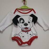 Body de manga comprida - 3 a 6 meses - Disney baby