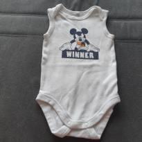 Body sem manga - 6 a 9 meses - Disney baby