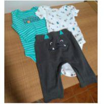 Conjunto Monsters carters - 0 a 3 meses - Carter`s