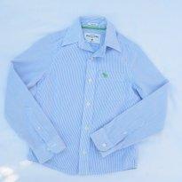 Camisa Abercrombie Listrada Azul - 8 anos - Abercrombie