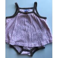 Body vestido malha - 0 a 3 meses - Tip Top