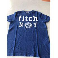 Camiseta Azul escuro Fitch - 7 anos - Abercrombie