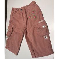 Calça em veludo rosa - 9 a 12 meses - Chicletaria