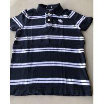 Camiseta Polo em Malha Abercrombie - 7 anos - Abercrombie