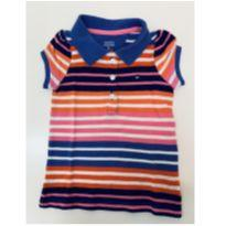 Polo Tommy listrada - 6 a 9 meses - Tommy Hilfiger