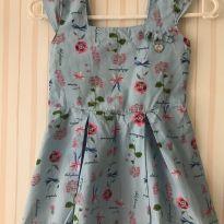 Vestido Carinhoso Azul - 3 anos - Carinhoso