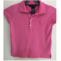 Blusa polo rosa - 6 anos - Ralph Lauren