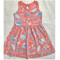 Vestido estampado com detalhe em renda nas costas - 6 anos - Hering Kids