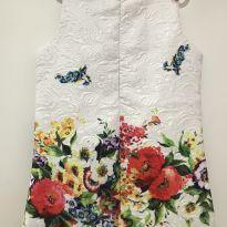 Vestido importado fundo branco - 4 anos - Importado