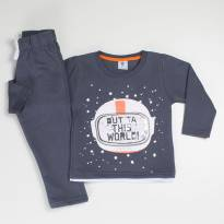 Conjunto Out World Chumbo - 2 anos - By Gus