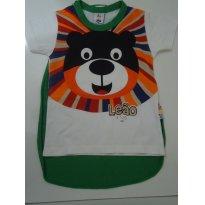 Camiseta Super Leão com Capa - Tam 3 - 3 anos - Zig Zig Zaa e Malwee