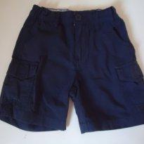 Bermuda Azul Escuro - Tam: 2 a 3 anos - 2 anos - Póim