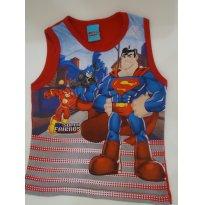 Regata Vermelha Heróis DC Super Friends - 3 anos - 3 anos - DC Comics