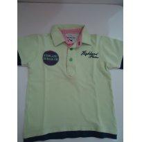 Camiseta Polo Verdinha - Um mais Um - 3 anos - 3 anos - 1+1