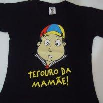 Camiseta Preta Kiko - 3 anos - 3 anos - Piticas