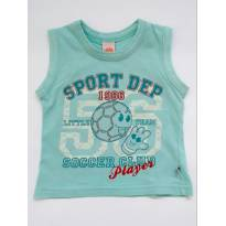 Camiseta regata verde - 9 a 12 meses - DILA