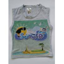 Camiseta regata cinza - 1 ano - Visual Radical