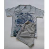 Pijama de malha manga curta e shorts - 2 anos - Kidstok