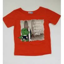 Camiseta manga curta Laranja - 2 anos - Bambini
