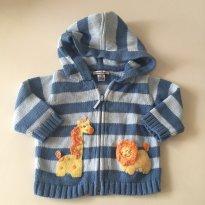 Blusa de linho - azul listrada - Hartstrings - tam 3-6 meses - 3 a 6 meses - Hartstrings