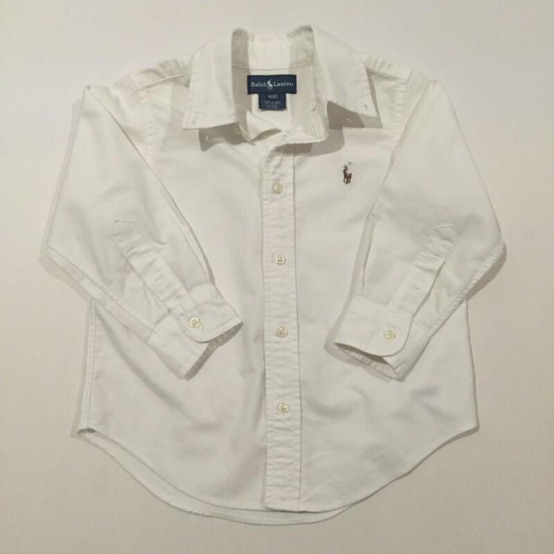 Camisa Social Polo Ralph Lauren - Manga Longa - Branca - Tam 3 3 ... e7c8cbf039d04