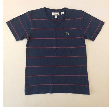 Camiseta - marca Lacoste - Azul Marinho - listrada - tam 6 - 6 anos - Lacoste