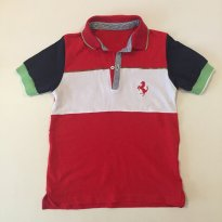 Camiseta polo - Marca Ferrari - cor  Vermelha -  Tam 5/6