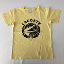 Camiseta - Marca Lacoste - Cor Amarela - Tam 6 - 5 anos - Lacoste