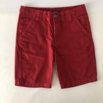 Bermuda - marca Nautica - Cor Vermelha - Tam 7 - 6 anos - Nautica
