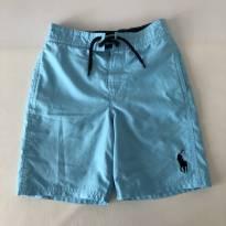 Shorts Azul Claro - Polo Ralph Lauren - Tam 7 - 7 anos - Ralph Lauren