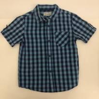 Camisa Zara - Xadrez - Azul c/ Roxo - Tam 4-5